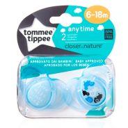 מוצצים לשימוש יומיומי זוג 6 - 18 כחול טומי טיפי TOMMEE TIPPEE